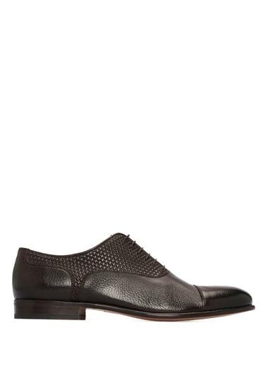 Moreschi %100 Deri Bağcıklı Klasik Ayakkabı Kahve